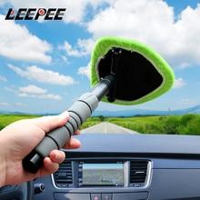 منظف زجاج السيارة من الألياف الدقيقة ، منظف زجاج السيارة التلسكوبي ، فرشاة تنظيف الزجاج الأمامي للسيارة