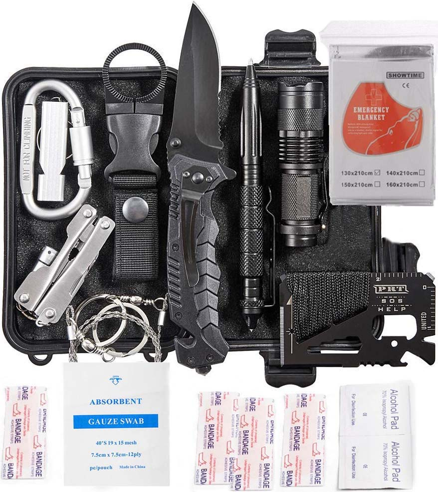 18 in 1 Survival Gear kit Survival Products For Tourism Emergency SOS First Aid Supplies Multi Tools for Wilderness Whistle pen