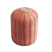 Multi-Function Gas Canister Cover Protector Hand-Made Rattan Gas Canister Storage Bag for Outdoor Camping Hiking(China)