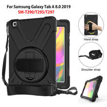 Case For samsung galaxy tab A 8.0 2019 SM-T290 SM-T295 T290 T295 T297 Cover Funda Shockproof Heavy Duty With Wrist Straps(China)