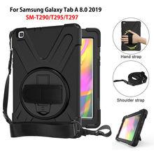 Per Il caso di samsung galaxy tab 8.0 2019 SM T290 SM T295 T290 T295 T297 Funda Copertura Antiurto Heavy Duty Con Polso cinghie