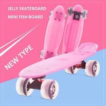 Розовый 57*15 см non slip скейтборд fish доска pvc Колеса пипи