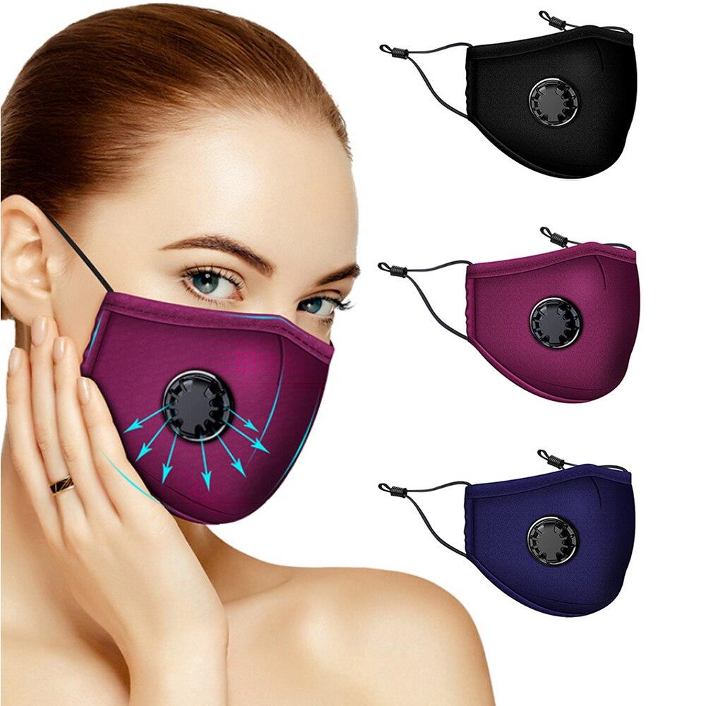 10 Pcs Fashion Mask Filter Anti Pollution PM2.5 Mouth Respirator Washable Reusable Dust Masks Cotton Unisex Mouth Muffle Black