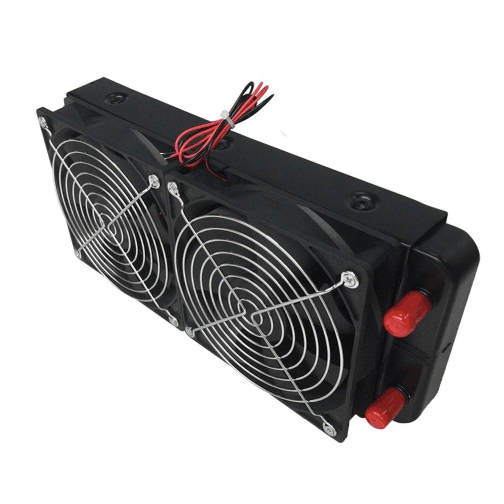 1 шт. черный 240 мм алюминиевый радиатор водяного охлаждения компьютерный радиатор водяного охладителя Процессор теплообменник для Процессо...