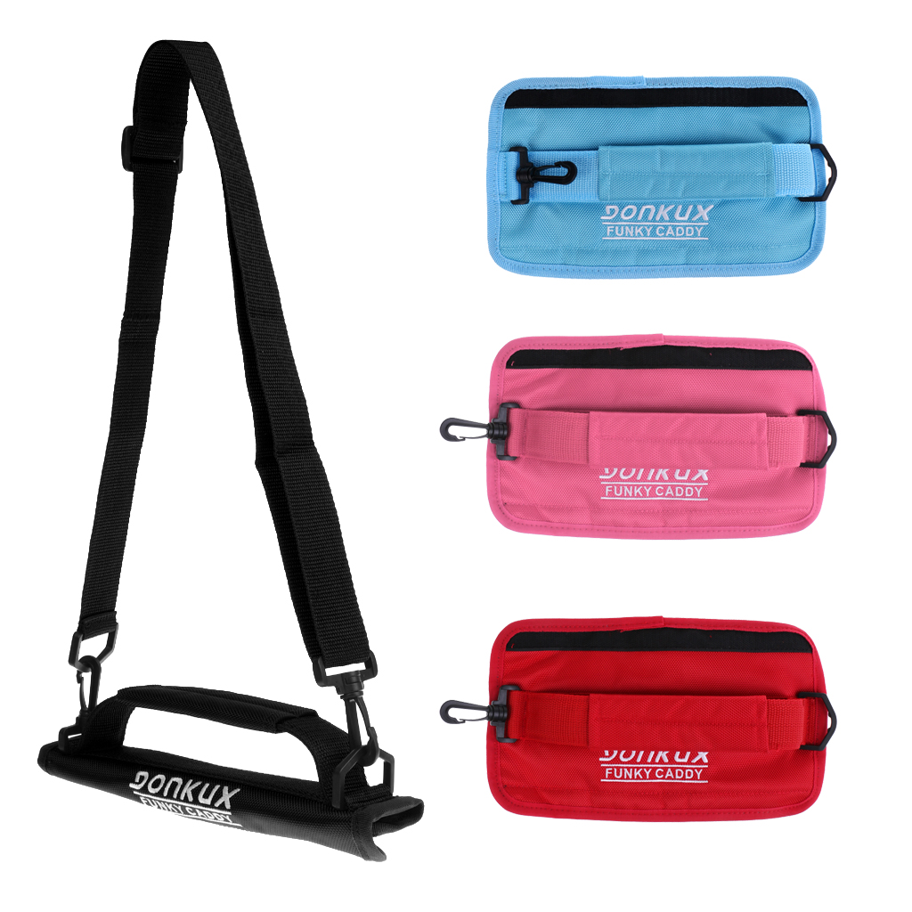 Portable Durable Nylon Caddy Golf Club Carrier Bag With Shoulder Belt - 4 Colors