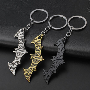 Bat Man Movie Theme Metal Keychains Batman Movie jewelry Key Chains comic figure pendant accessories Key Gift J31