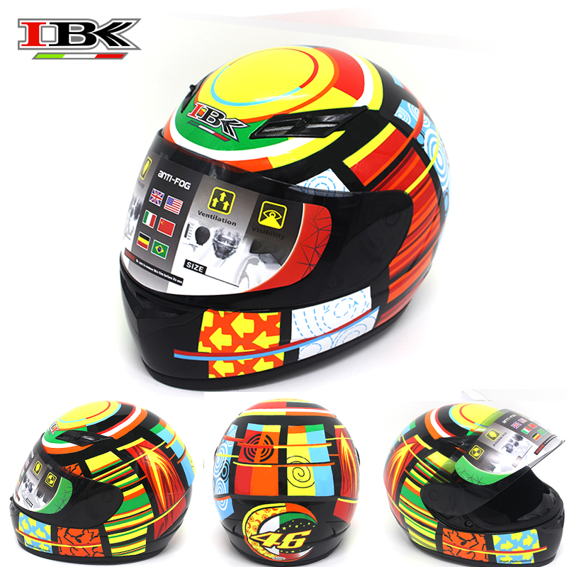 IBK Anti-UV Full Face Motorcycle Helmets Electric Bicycle Scooter Unisex Open Face New Style four season Helmet