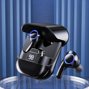 Wireless Headphones with Microphones TWS Bluetooth Earphones Sports Waterproof Headsets Touch Contro