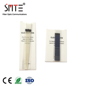 Image 2 - 100pcs/ lot Fiber cleaning rod dust swab 2.5mm SC FC ST 1.25mm LC MU wiping stick wiping stick fiber cleaning cotton swab