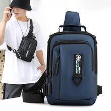 Мужские сумки через плечо с usb зарядкой защитой от кражи школьная