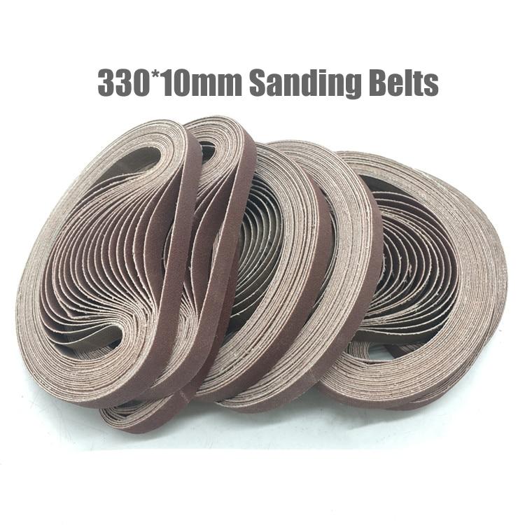 10PCS 330*10mm 40-1000Grit Abrasive Sanding Belts Sander Grinding Polishing Tools