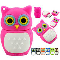 New Arrival USB Flash Drive usb2.0 256GB Pen Drive 4GB 8GB 128GB 16GB 32GB 64GB Pendrive Mini Owl nighthawk Memory Stick U Disk