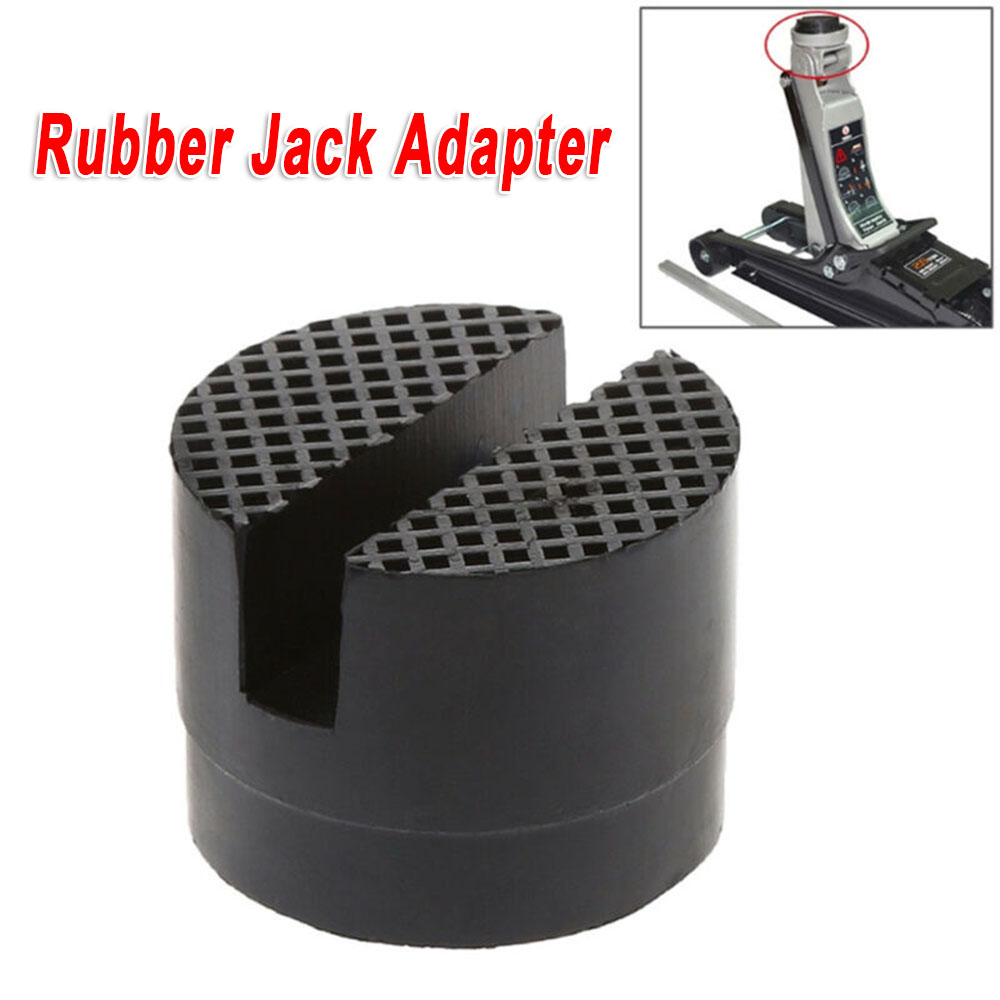New Lifting Jack Pad Adapter Car Slotted Frame Rail Floor Trolley Rubber Kits