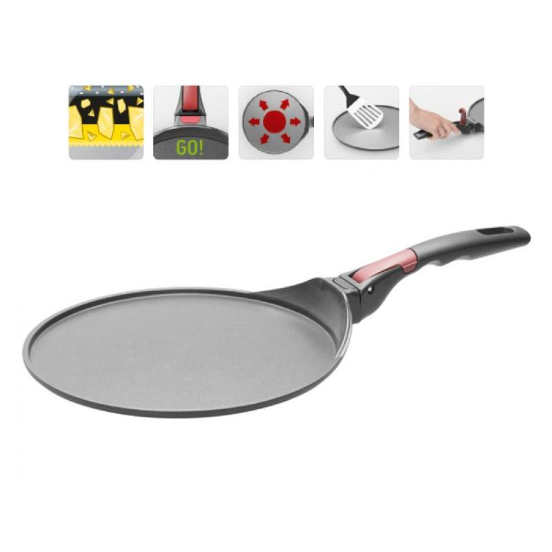 Frying Pan Griddle NADOBA, Vilma, 26 Cm, With Removable Handle