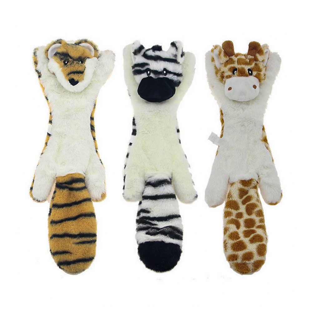 Игрушка с писком для домашних животных игрушки плюшевые писк питомца волк кролик животное плюшевая игрушечная собака Игрушки для маленьких средних собак интерактивные жевательные игрушки