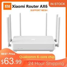 Yeni Xiaomi Redmi yönlendirici AX6 Wifi 6 örgü Gigabit 2.4G/5.0GHz çift bant kablosuz yönlendirici Wifi tekrarlayıcı 6 yüksek kazançlı antenler WIFI 6