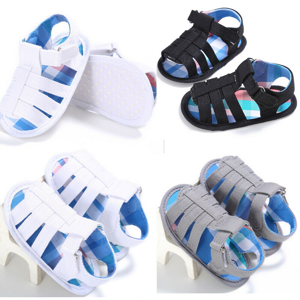 Summer Baby Sandals Boys Shoes Newborn Baby Boy Sandals Hollow Sandals Prewalker Soft Sole Shoes 0-18M