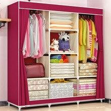 Giantex tissu pliant Portable armoire vêtements placard armoire de rangement meubles de maison chambre organisateur armario ropero muebles