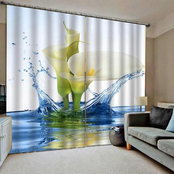 water lily curtains 3D Curtain Luxury Blackout Window Curtain Living Room Blackout curtain