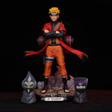 цены Anime Naruto Uzumaki Naruto GK Rikudo Sennin Ver PVC Action Figure Collectible Model doll toy 21cm