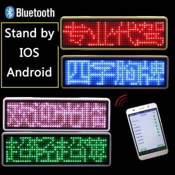 Led klips na identyfikator insygnia akumulator Bluetooth cyfrowy Diy przewijanie tablica ogłoszeń miniwyświetlacz Led nazwa Peugeot znaczek znaczek tanie i dobre opinie ARICK CN (pochodzenie) Rohs Reklama świetlna USB Recharge Led Badge Led Name Badge Bluetooth Digital DIY Programmable Scrolling Message Board