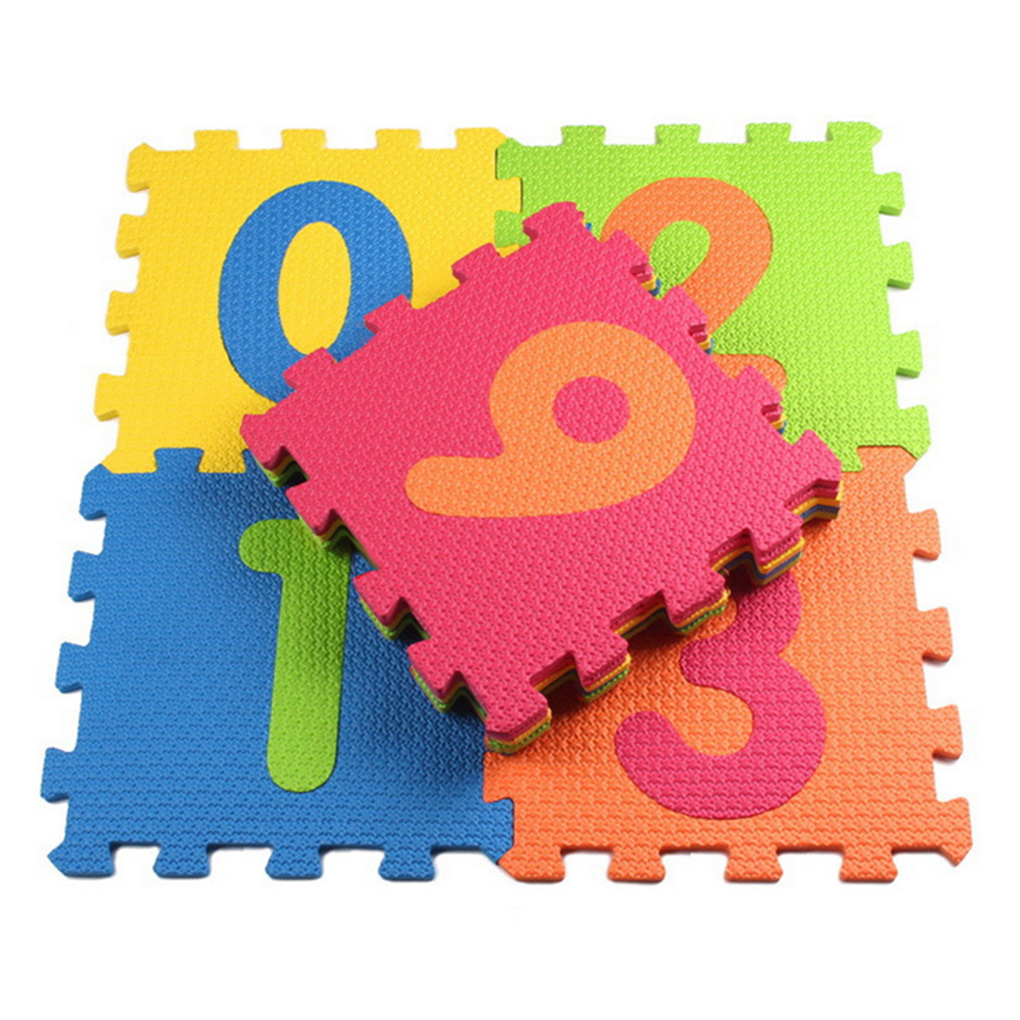 10PCS/Set Animal Number Pattern EVA Foam Puzzle Soft Baby Kids Play Mat Indoor Activity Puzzle Mats