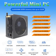 Eglobal S200 Nuc Intel i9 8950HK/i7 8750 H/i5 8300 H/Xeon E-2176M Mini PC Win10 Pro DDR4 AC Wifi Mini computadora de escritorio(China)