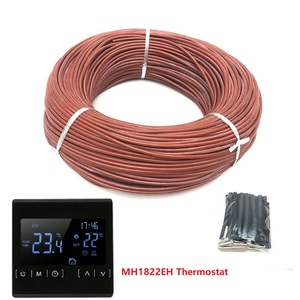 Image 3 - 50m 12K 33ohm/m Infrared Carbon Fiber Heating Wire Silicone Rubber Warm Floor Heating Cable with Thermostat
