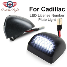 цена на 2Pcs 6000K 12V 3W  Car Number License Plate Light Exterior Accessories Signal Lamp For Cadillac Escalade ESV EXT