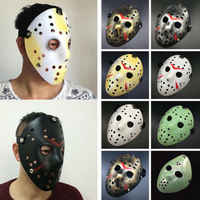 Halloween Jason Mask Hockey Cosplay 2019 Hallowmas Killer Horror Scary Party Decor Mask Holiday Masquerade Masque V for Vendetta
