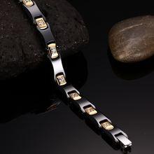 Женский керамический браслет черный из нержавеющей стали Ювелирное