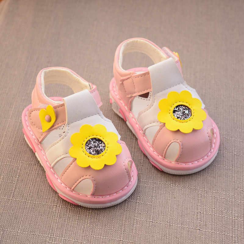 ฤดูร้อนเด็กผู้หญิงรองเท้าหนังเด็กหวานรองเท้าแตะสำหรับทารกเด็กวัยหัดเดิน Breathable ฤดูร้อนรองเท้าแตะรองเท้า