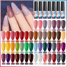 NICOLE DIARY 8ml Matte UV Gel Nail Polish Pure Nail Color Matte Top Coat Soak Off Nail Art Gel Varnish Lacquer Manicure