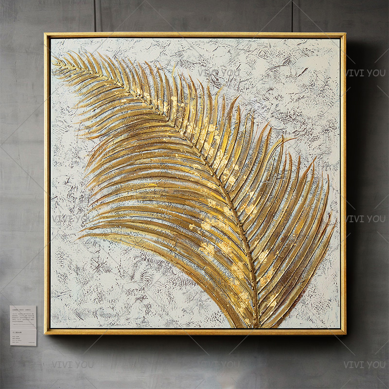 Golden Reed Design  Handmade Abstract 100% Handpainted Oil Painting on Canvas Wall Art Picture for Living Room Bedroom Decor