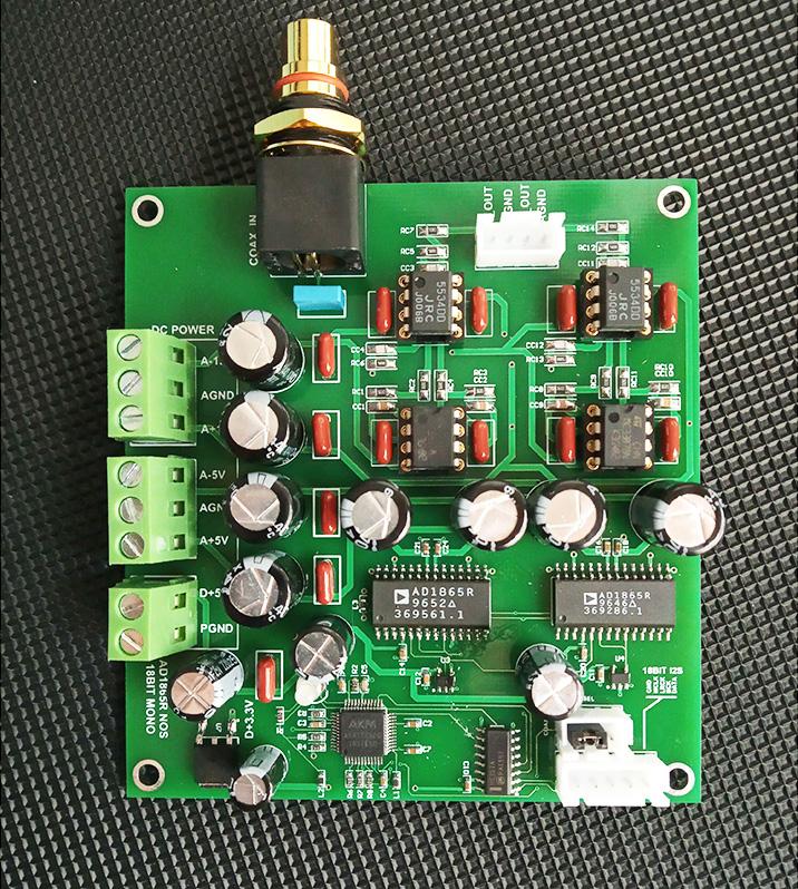 AD1865R AD1865 1865 R2R NOS decoder board AD1865R NOS DAC Audio Decoding Board Dual DC 15V 5V / DC 5V H008
