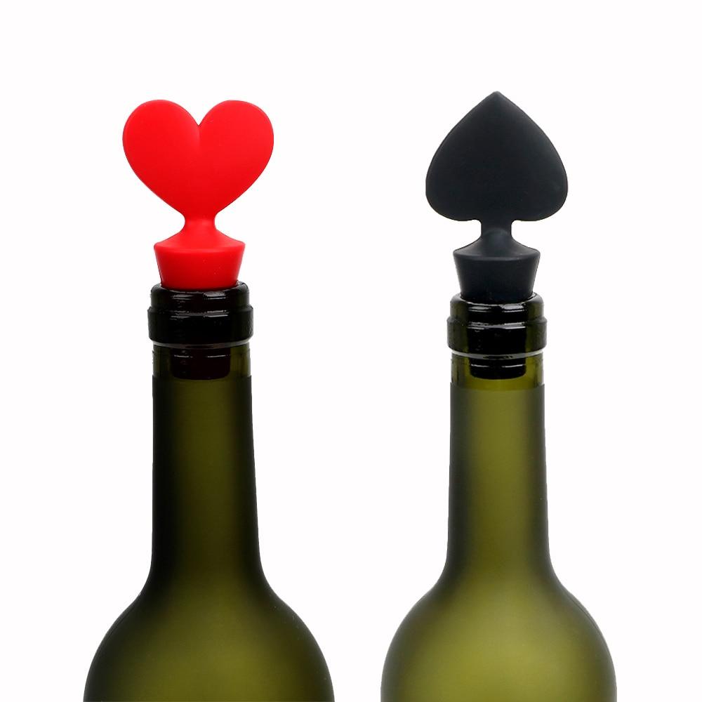iTimo Juego de 2 Tapones para Botella de Vino de Silicona