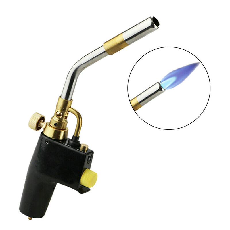 Tools : Gas Welding Torch Propane Soldering Outdoor Camping Picnic BBQ Burner Brazing Gas Soldering Torch Heat Gun for Welding Equipment