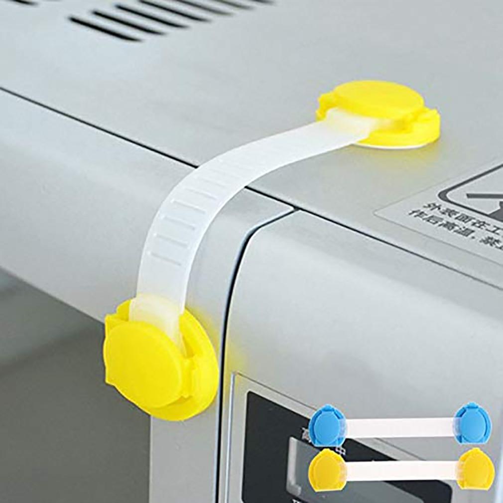 10Pcs Baby Long Cute Bendable Door Drawers Safety Lock Children Protection Lock Cabinet Door Drawers Refrigerator Lock