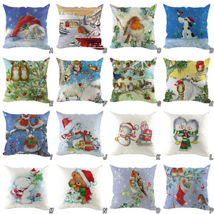 Christmas Decoration For Home Christmas Pillow Case 2020 New Year Decoration Santa Claus Snowman Deer Plus Pillow Cover Gift