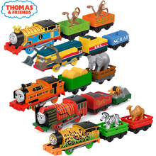 Original Electronal Thomas and Friends Electric Track Master 1:43 Trains Motor Metal Model Car Use Battery Material Kids Toys