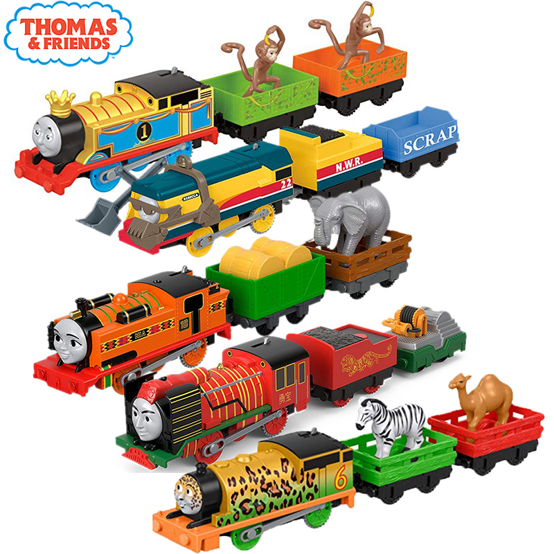 Original <font><b>Electronal</b></font> Thomas and Friends Electric Track Master 1:43 Trains Motor Metal Model <font><b>Car</b></font> Use Battery Material Kids <font><b>Toys</b></font> image