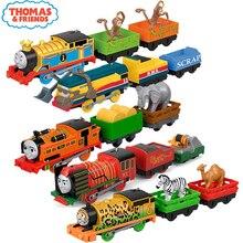 Thomas Electric and Friends, train maître de piste électrique 1:43, Original, modèle de voiture en métal, batterie, jouets pour enfants