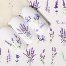 1 Lembar Air Decals Transfer Stiker Bunga Butterfly Rose Campuran Pola Warna-warni Nail Art DIY Alat(China)