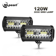 Car-Light-Assembly Beams Tractor Offroad Truck Led-Work Nlpearl 120w Combo 4x4 54W