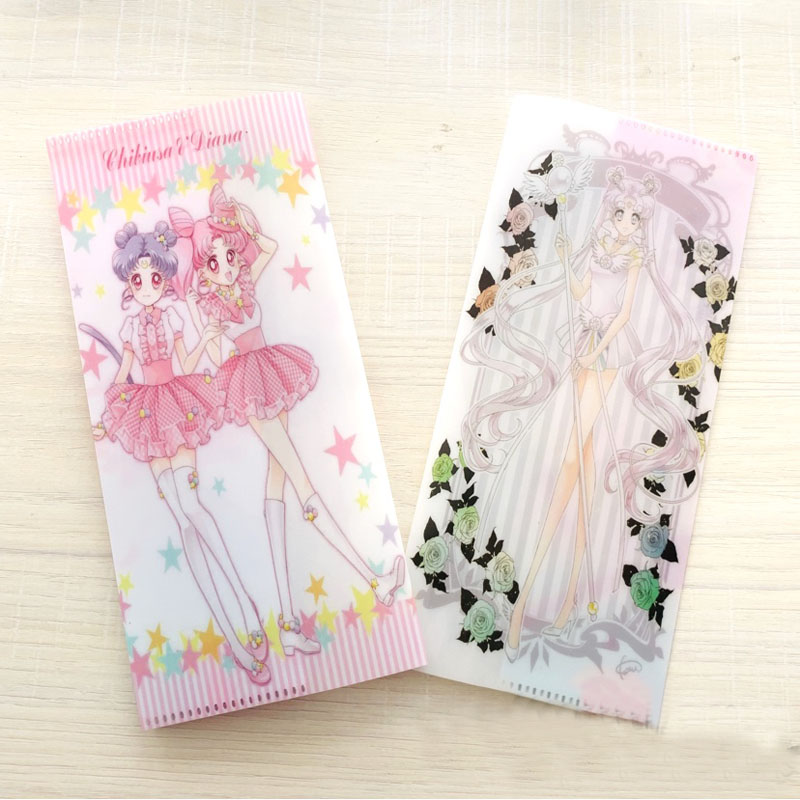 1 Pcs Kawaii Sailor Moon ID Holders Large Capacity Business Card Clip Cute Cartoon Ticket Collection Book Stationery