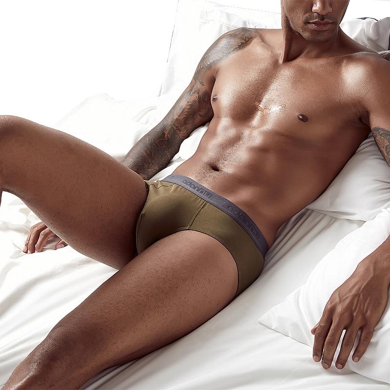 Solid Sexy Gay Men Underwear Briefs Slip Cuece Male Panties Brief Jockstrap Bikini Jock Strap Lingerie Man AD305