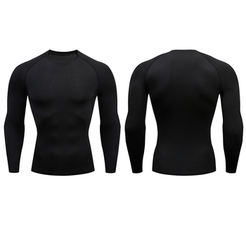 Men Compression Running T Shirt Fitness Tight Long Sleeve Sport tshirt Training Jogging Shirts Gym Sportswear Quick Dry rashgard 3
