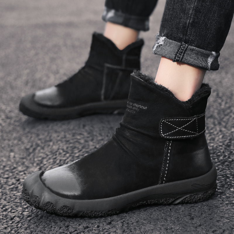 Winter Men Shoes For Men snow Boots Thick Fur Warm Ankle Boots For Men Footwear Waterproof ankle Boots Botas Hombre Shoes Man