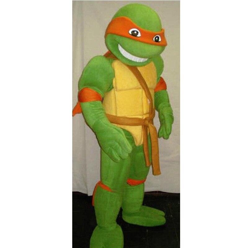 Costume de mascotte vente chaude il y a des coquilles de tortue mascotte Costumes unisexe pour adutl Halloween dessin animé vêtements Cosplay