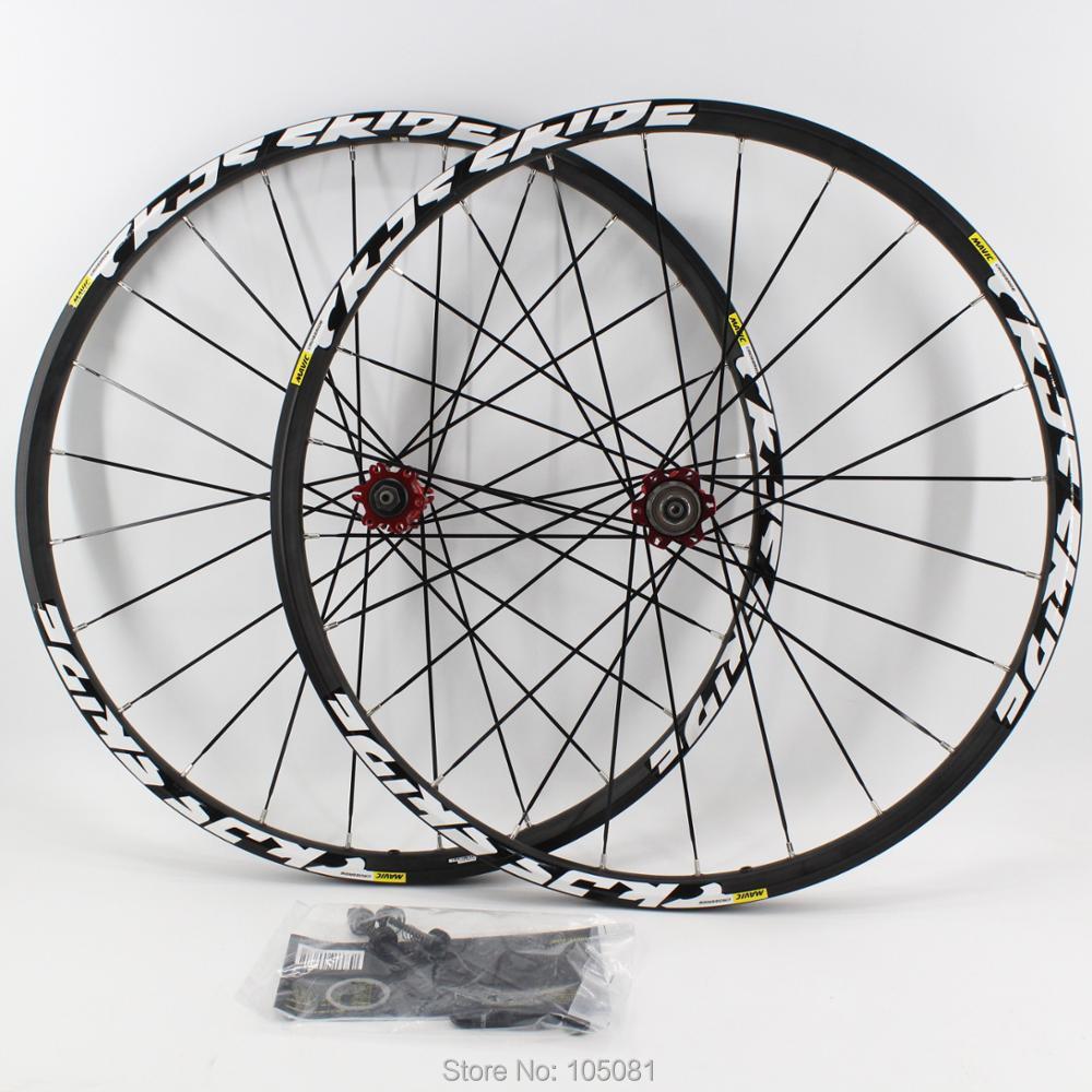 New 26/27.5/29er inch Mountain bike aluminum alloy bicycle wheelset MTB clincher rims CNC disc brake hubs QRM bearing Free ship